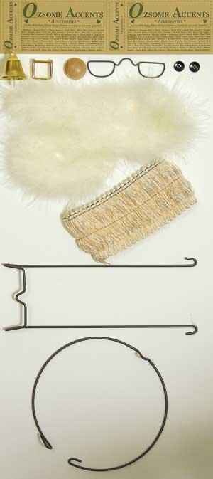 Santa Clothespin Bag Accessory Kit