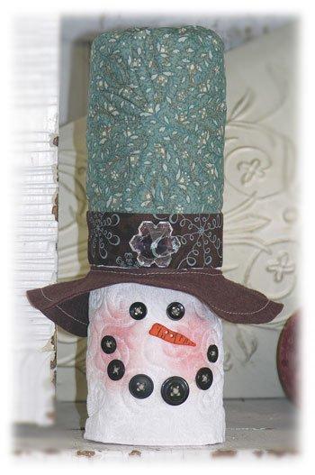 Stumpy Snowman Fabric Kit
