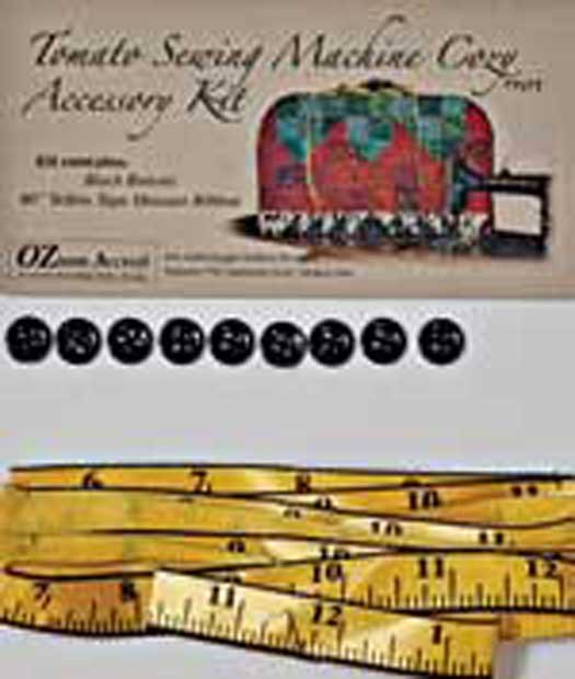 Tomato Sewing Machine Cozy  Accessory Kit