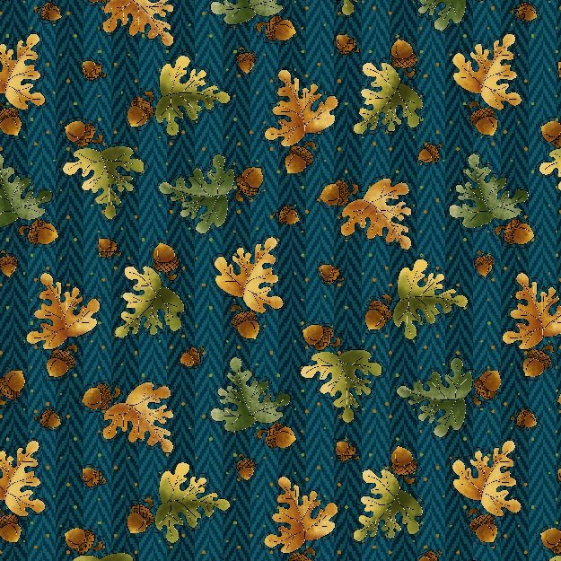 Clearwater Critters Acorns on Teal