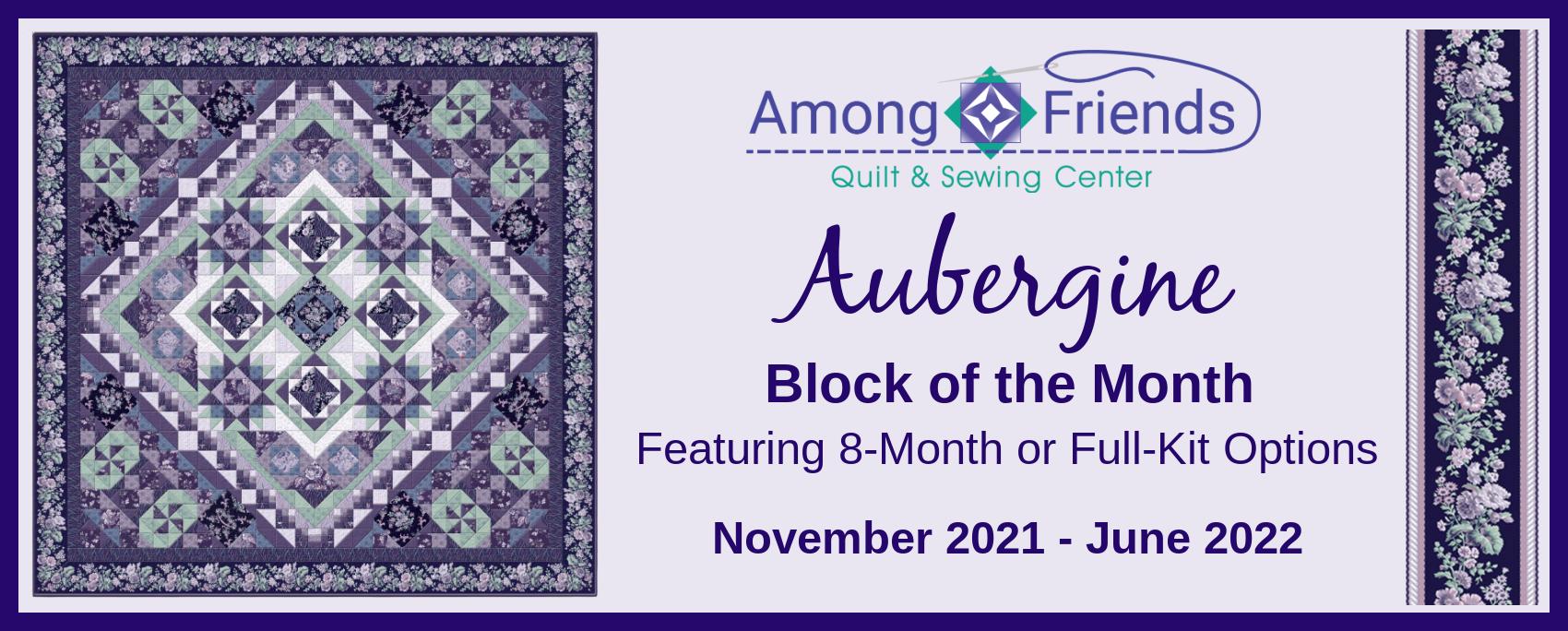 Aubergine Block of the Month Registration Fee