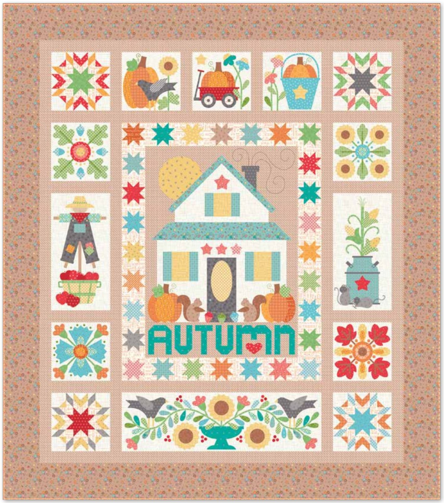 Autumn Love Sew Along Fabric Kit