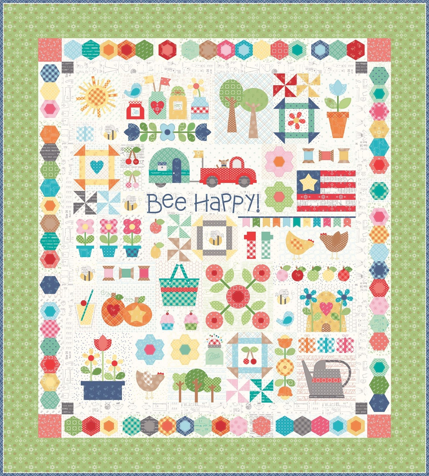Bee Happy Sew Along Fabric Kit