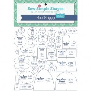 Bee Happy Sew Simple Shapes Mylar Template Set