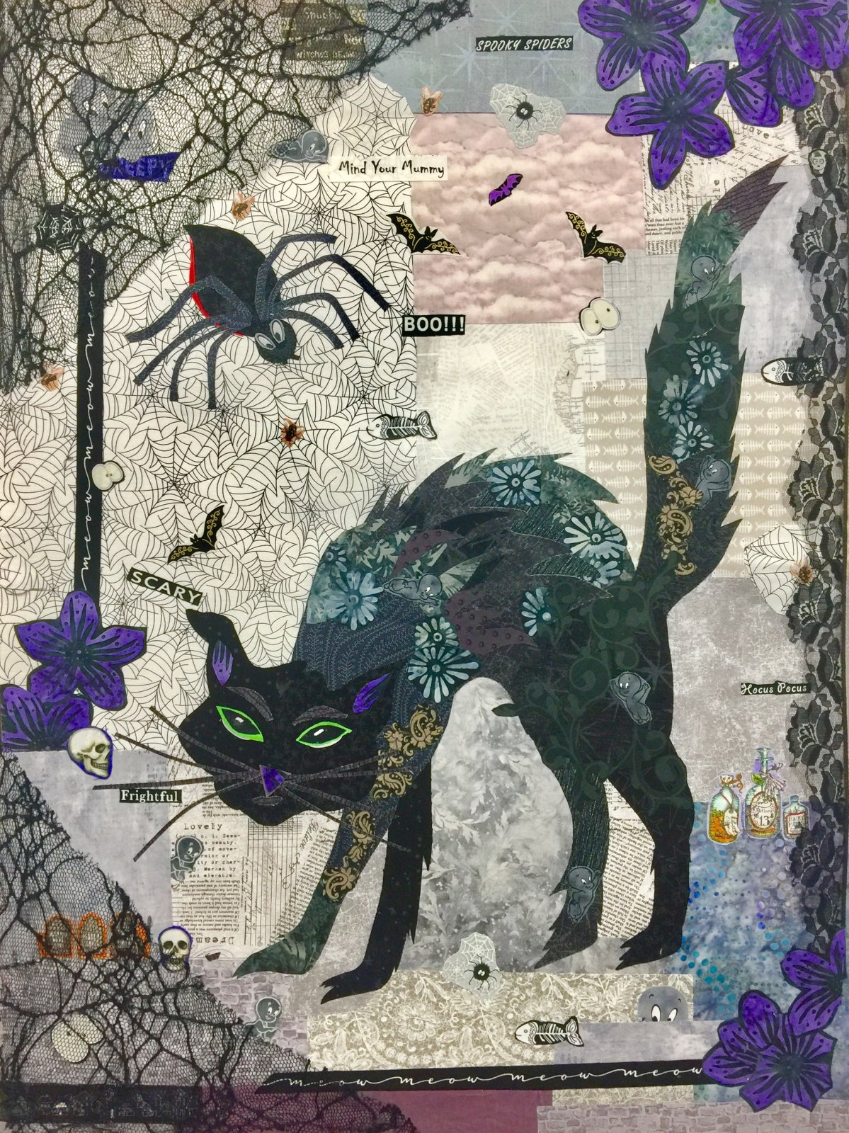Black Cat Collage Kit