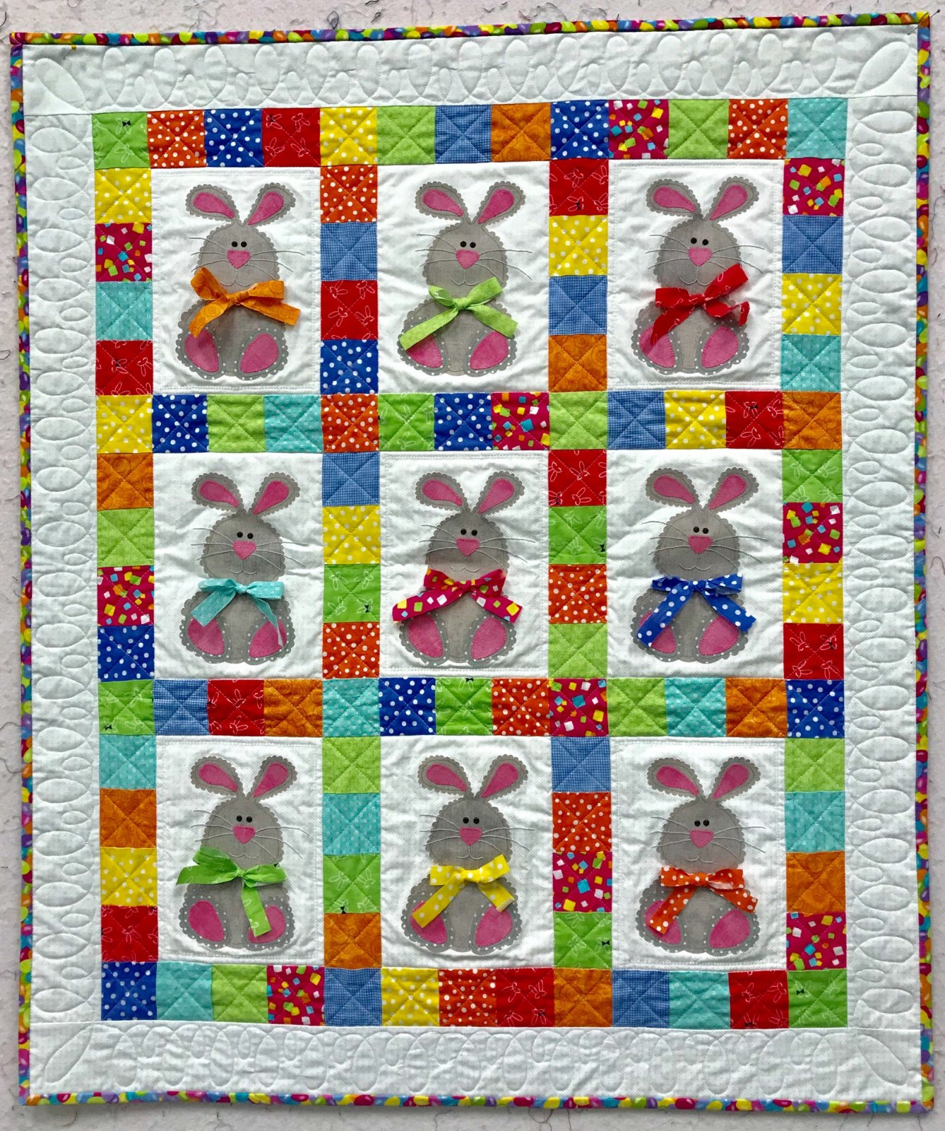Bunnies and Bows Quilt Kit