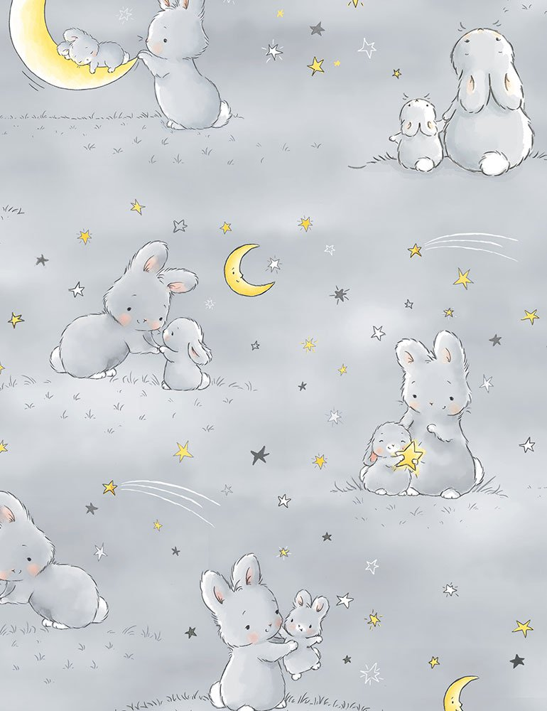 Little Star Bunnies with Moons