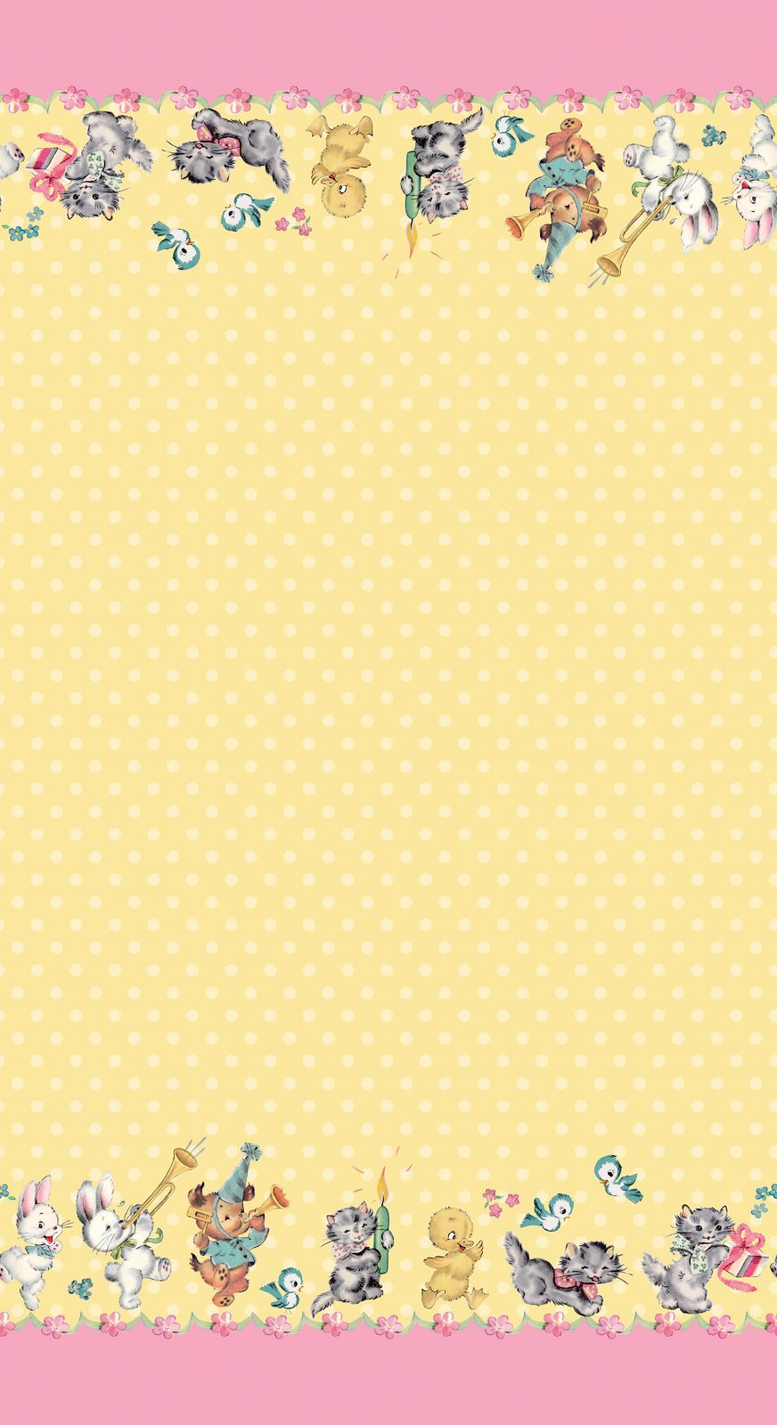 Perfect Party Border Yellow
