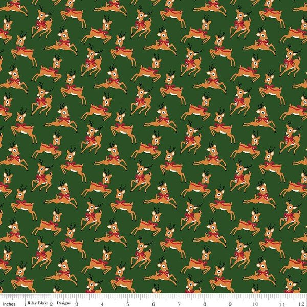 Merry and Bright Deer Green