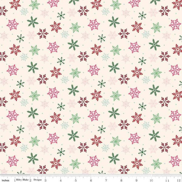 Merry and Bright Snowflakes Cream