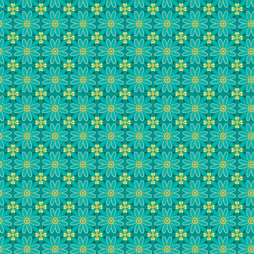 Wildflower Boutique Mosaic Teal