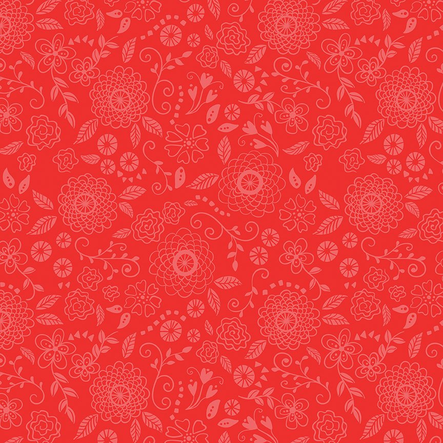 Wildflower Boutique Line Work Red