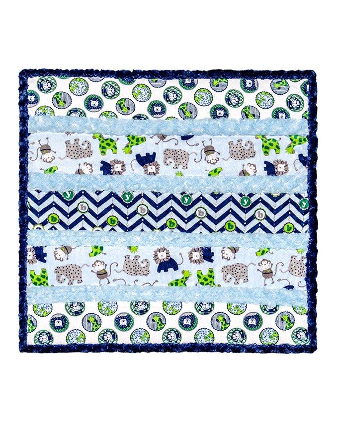 Born Buddies Blue Wee One Cuddle Quilt Kit