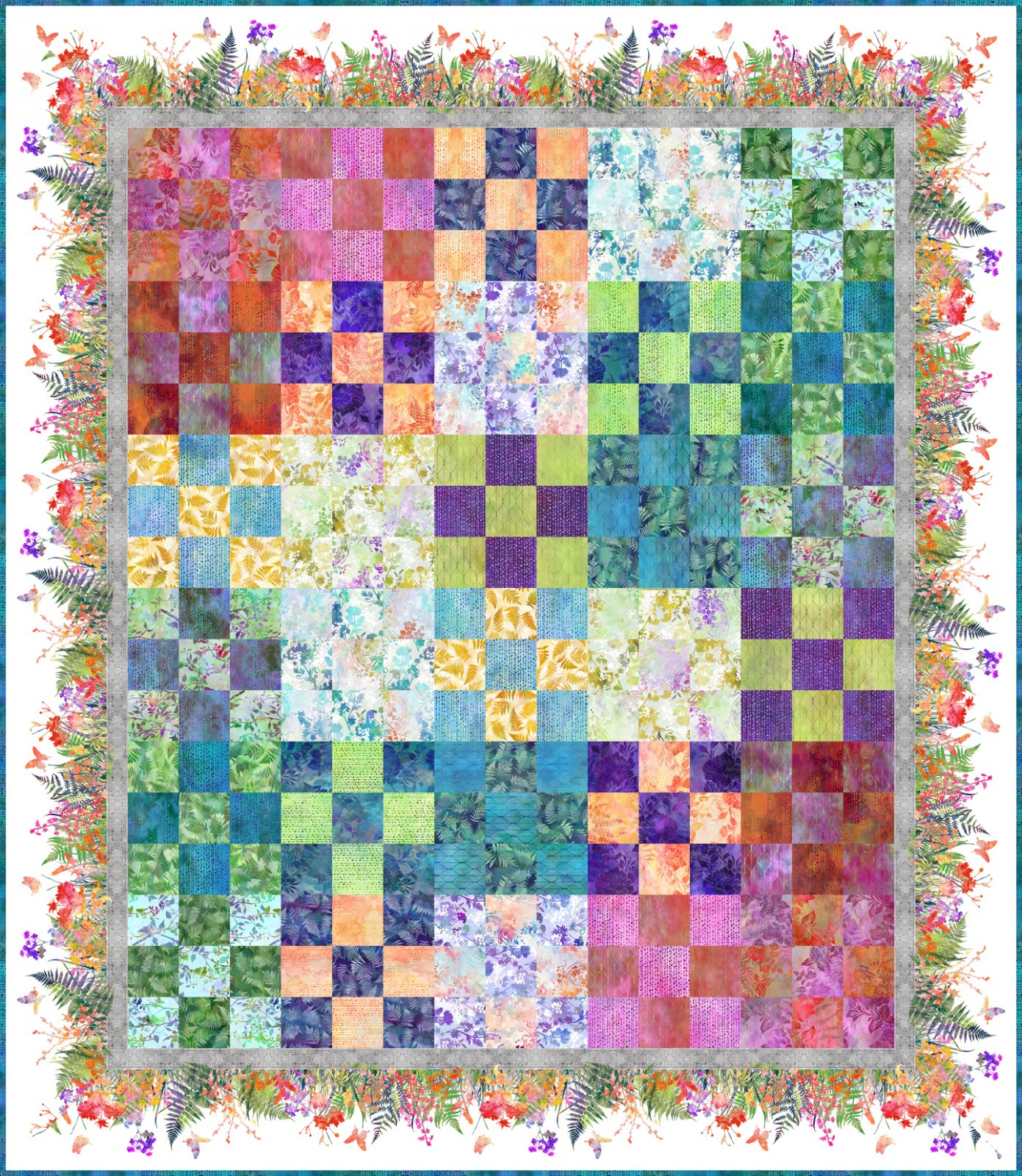 Garden 9-Patch Quilt Kit