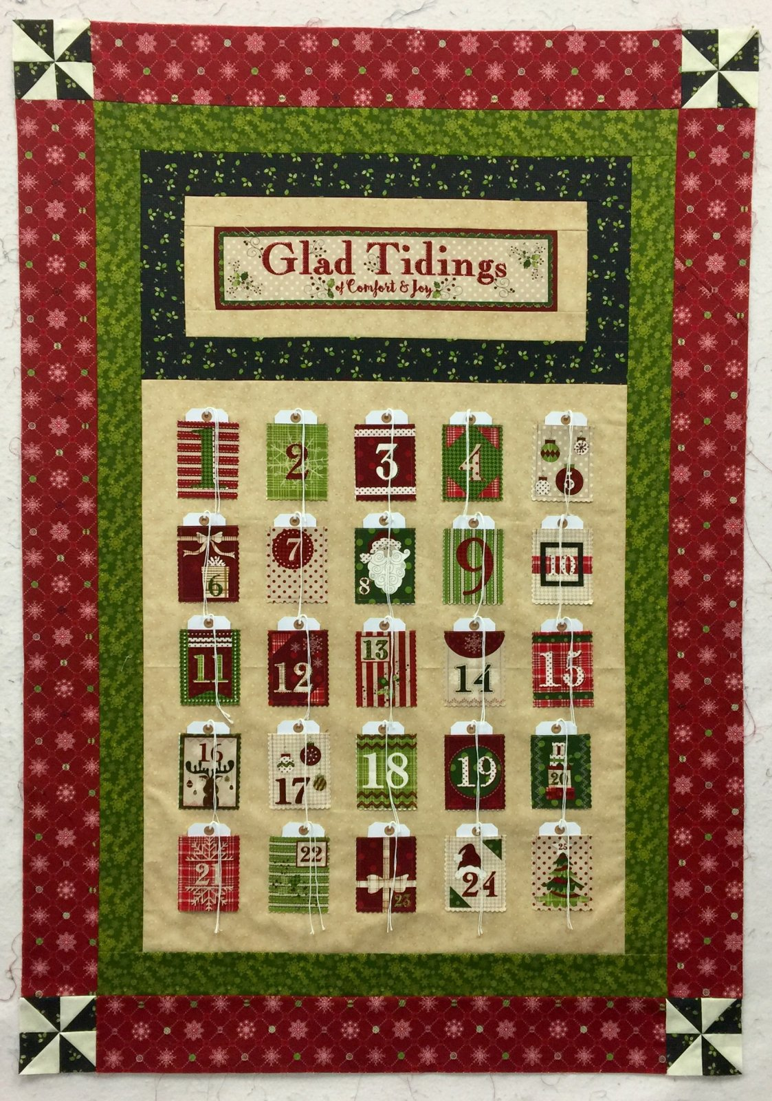 Glad Tidings Advent Quilt Kit