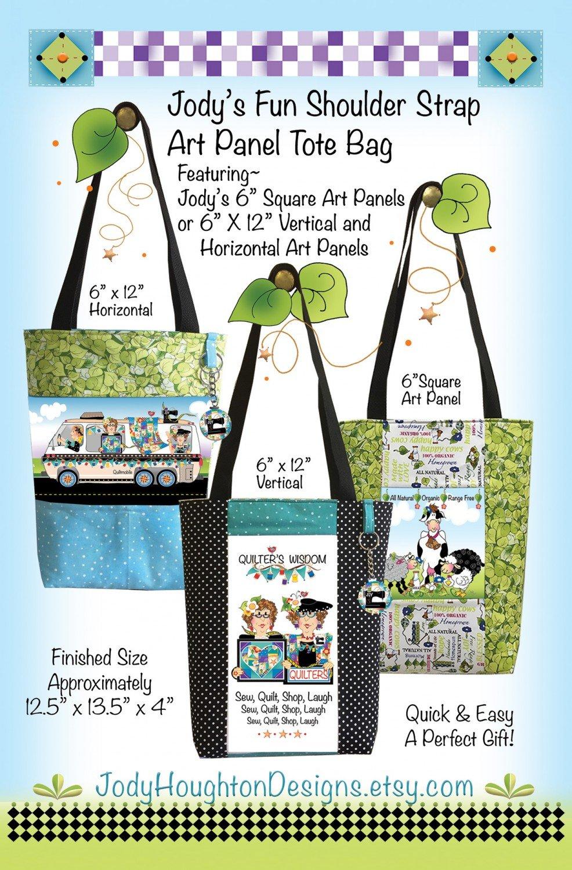 Jodys Fun Shoulder Strap Art Panel Tote Bag