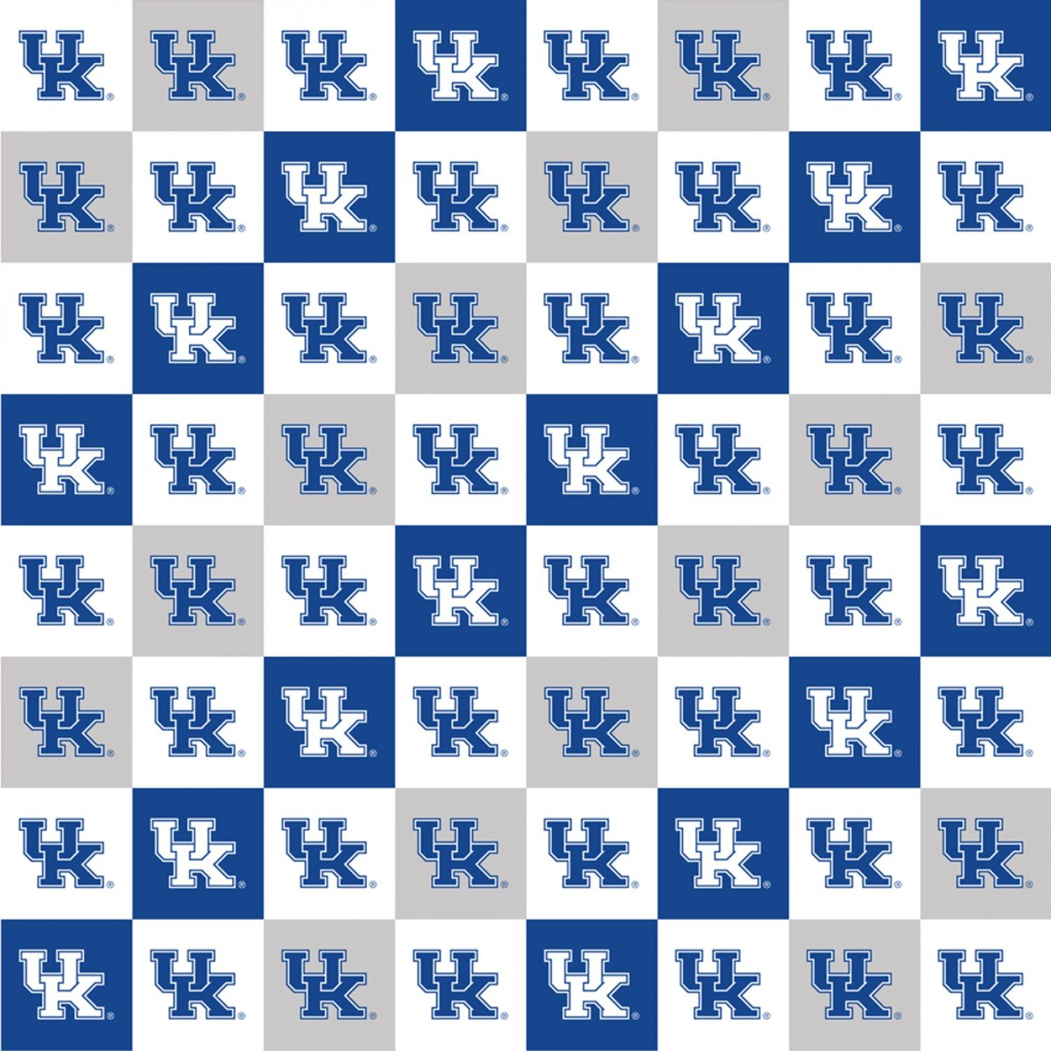 Kentucky Wildcats Squares Digitally Printed