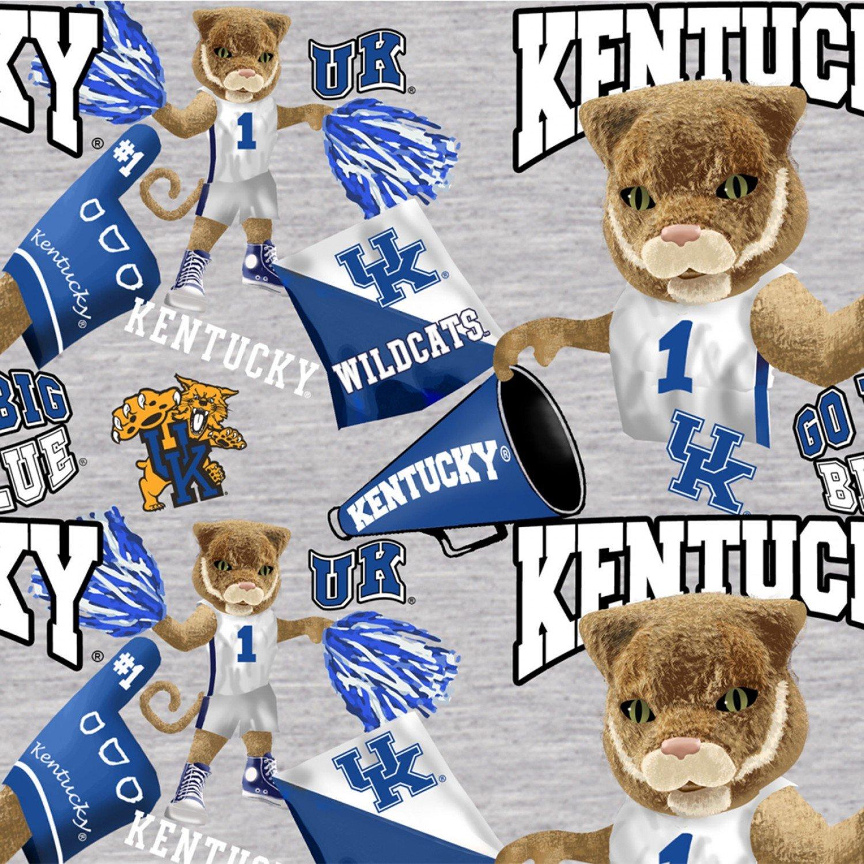 Kentucky Wildcats Gray Digitally Printed