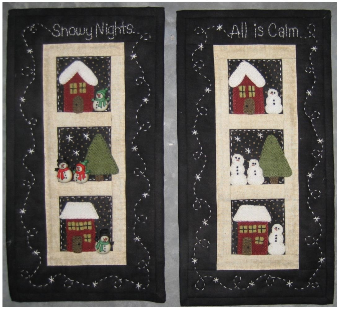 Snowy Nights - Red Button Quilt Co.