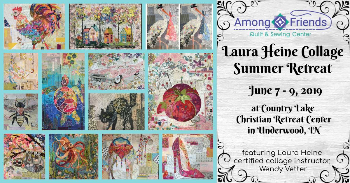 Laura Heine Collage Summer Retreat Deposit