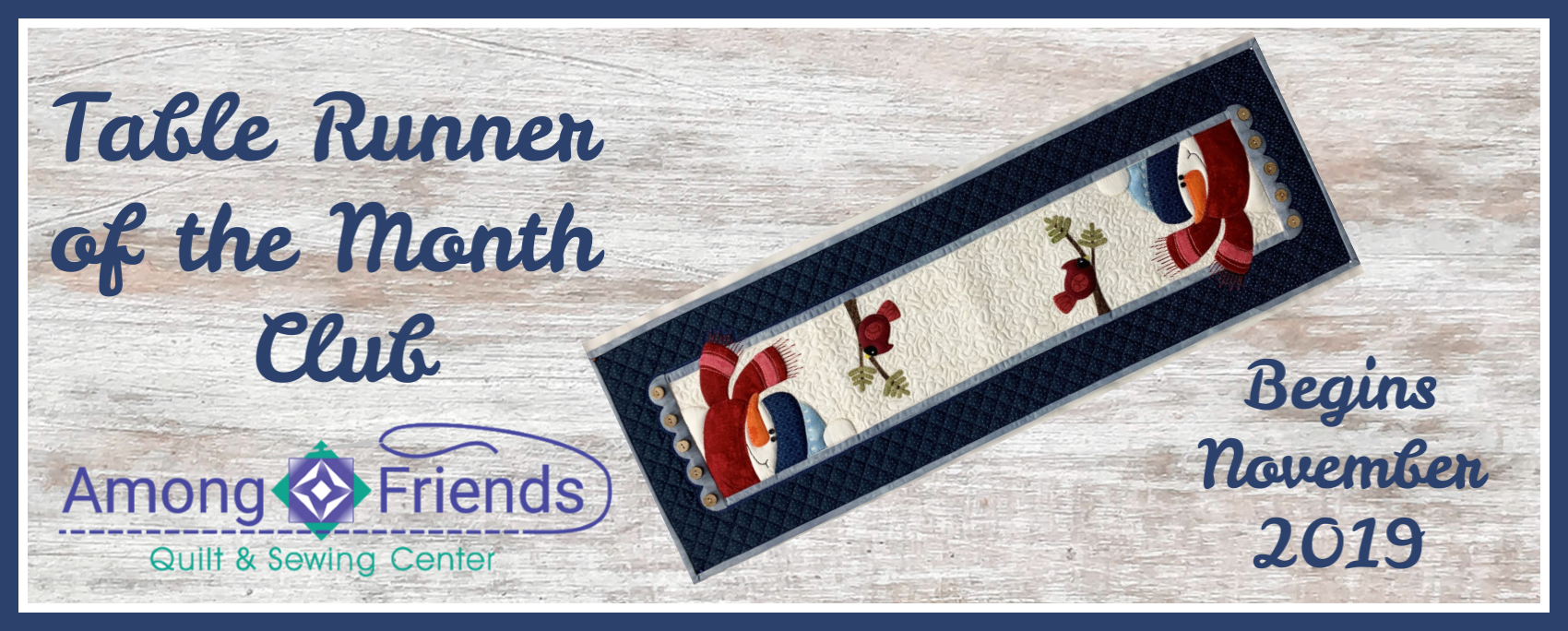 Table Runner-of-the-Month Club Registration Fee
