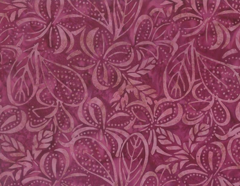Wilmington Prints Common Ground Plumeria Magenta