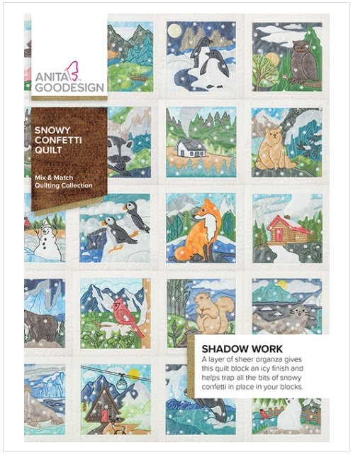 Anita Goodesign Snowy Confetti Quilt - Mix & Match Quilting Collection