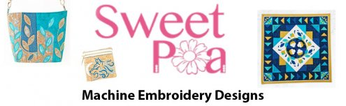 Sweet Pea Embroidery Designs