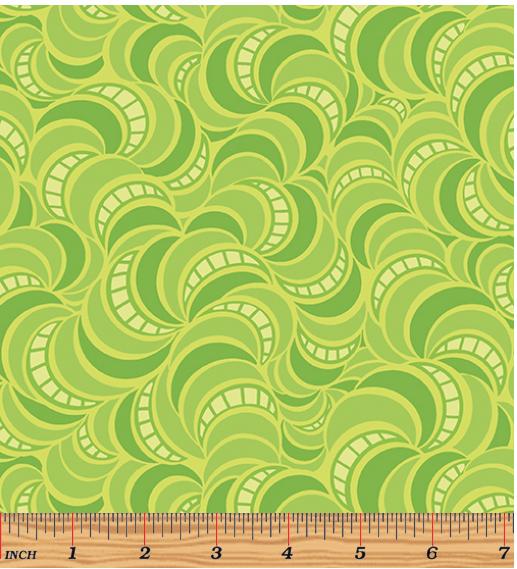 Benartex Free Motion Fantasy Green Wave