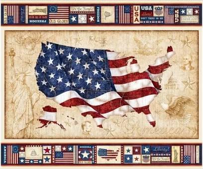Quilting Treasues American pride US Flag Panel