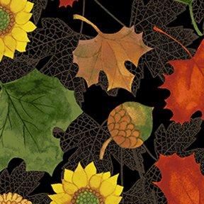 Clothworks Autumn Reverie Black