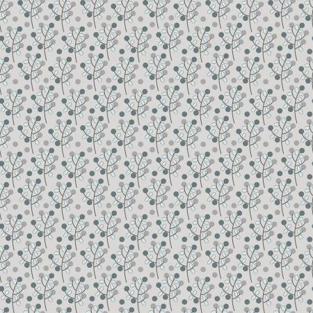 Cotton + Steel Emilia - Charlotte- Grey Fabric