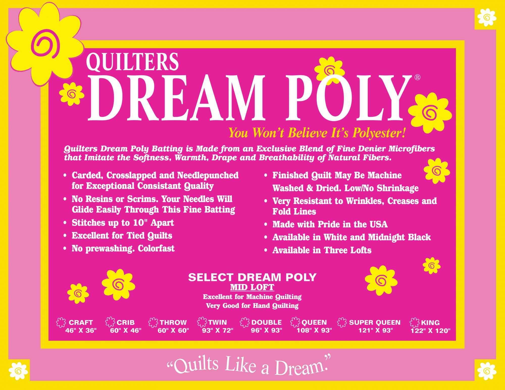 Quilters Dream Poly Select - Super Queen