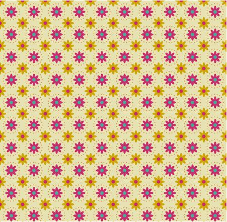 RJR Fabrics From the Desk of... Daisies in Circles - Yellow Fabric