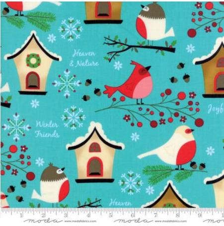 Moda Jingle Birds Bluebird
