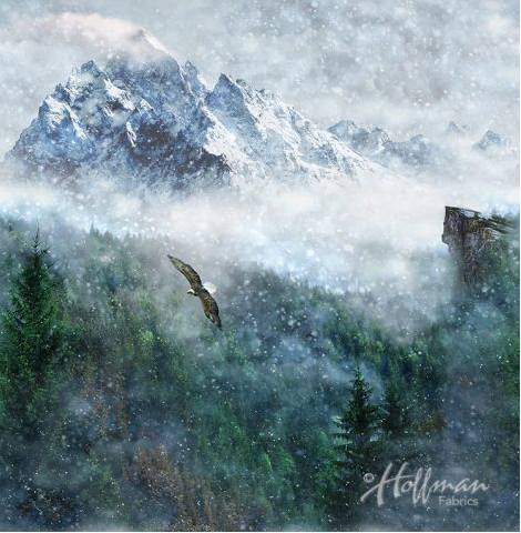 Call of the Wild EAGLE A Hoffman Spectrum Print ASPEN - Priced per Panel