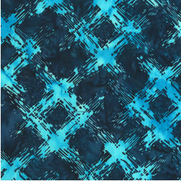 Anthology Fabrics Blue Scratched Plaid