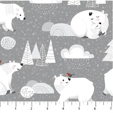 Northcott Polar Hugs Dk. Grey