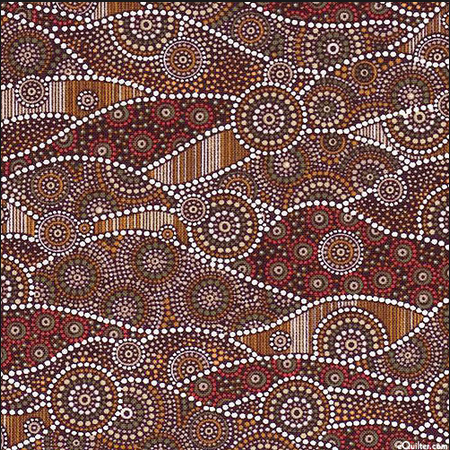 Blank Quilting Down Under Waves Brown