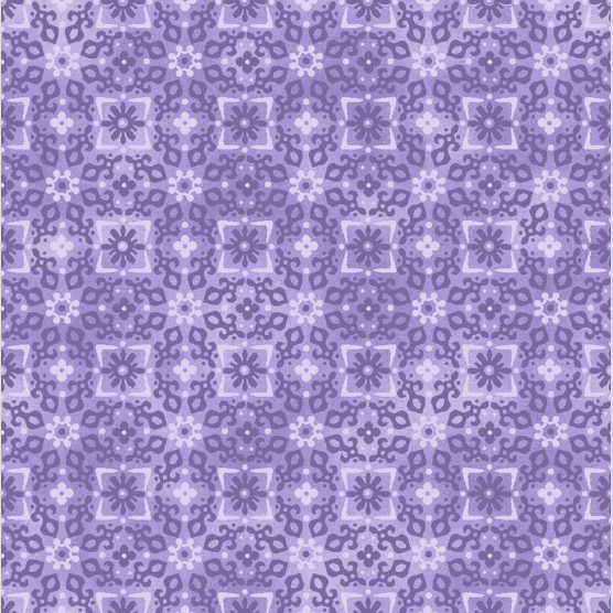 Blank Quilting Enchanted Tonal Flowers Purple