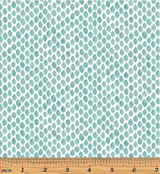 Benartex By Hand Raindrops Teal