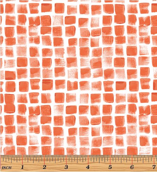 Benartex By Hand Squares Orange