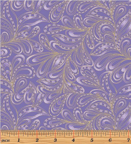 Benartex Featherly Paisley Purple