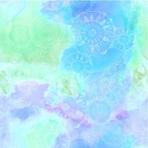 Blank Quilting Loca Linda Blue/Green