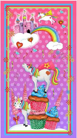 QT Party Like a Unicorn Panel - Pink