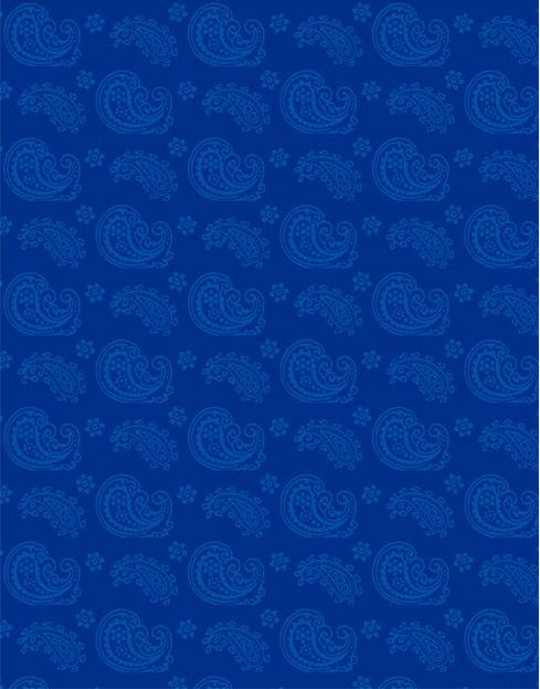 Wilmington Prints Essentials Blue Ribbon Paisley Toss