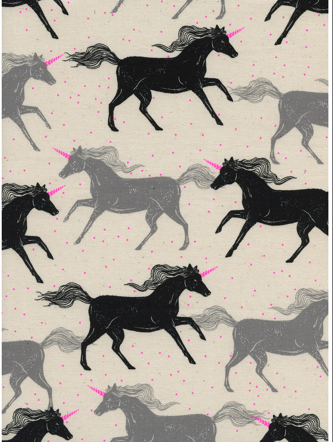 RJR Cotton Steel Basics Magic Forest Unicorns
