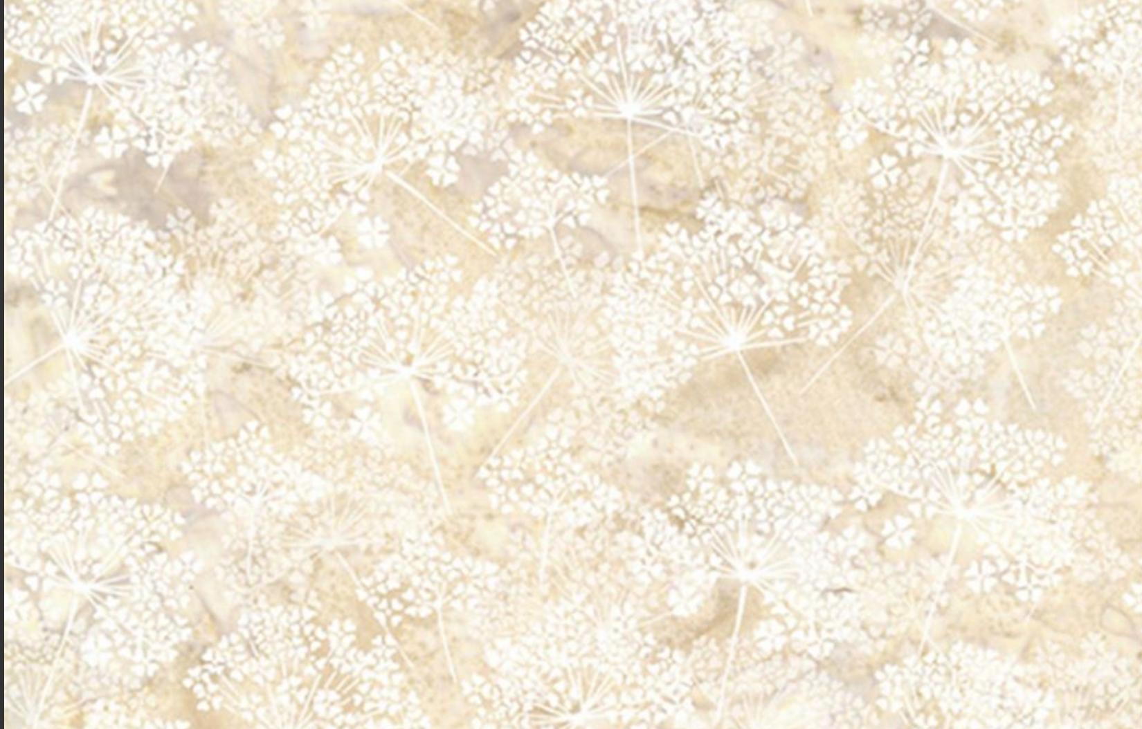 Hoffman Bali Batik Dandelion Papyrus
