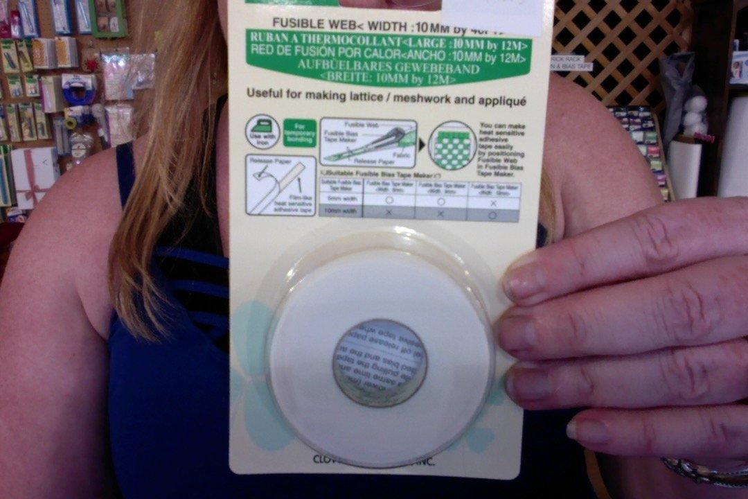 NOS-Fusible Bias Tape Web 10mm