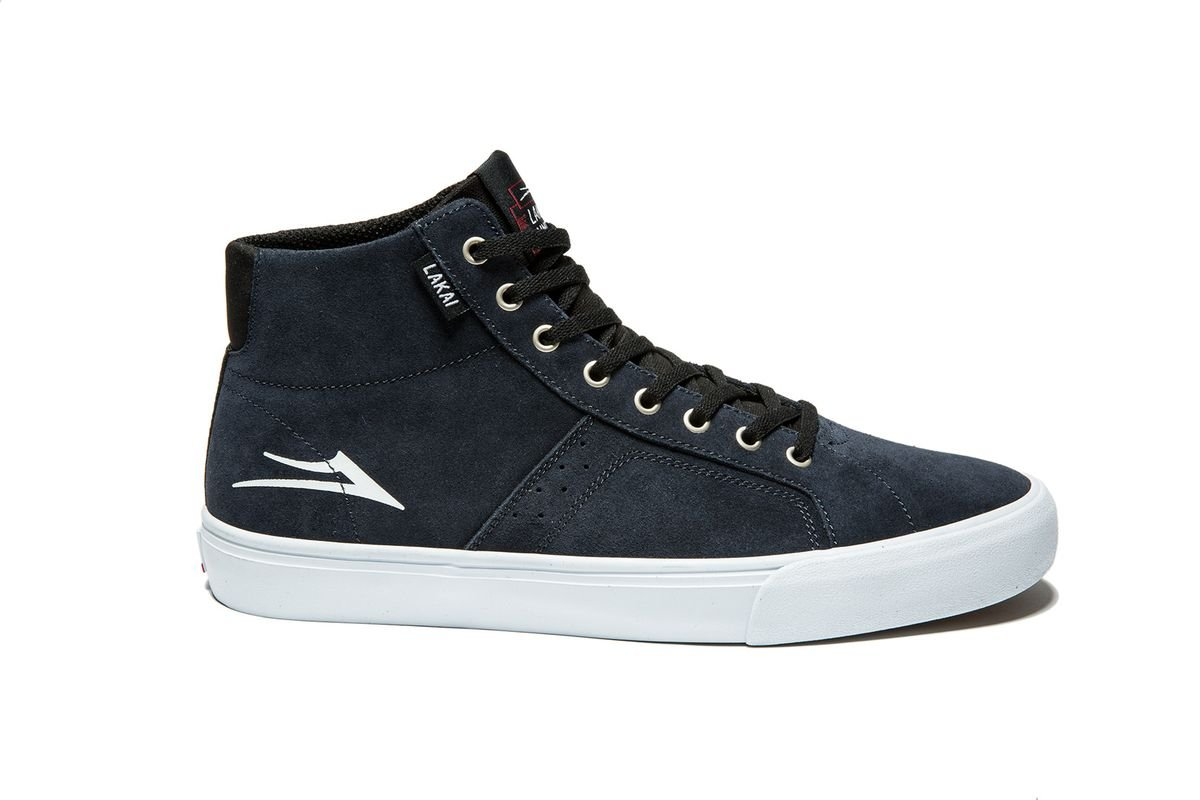 Lakai Flaco High navy white suede